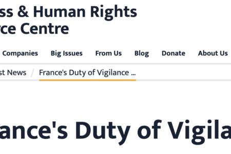 France duty of vigilance law